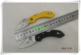 Wholesale Spyderco H1 tactical knife HRC pocket knives camping survival folding knife ABS handle A269