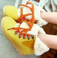 Wholesale CooLcept ankle half short platform boots women snow fashion winter warm boot footwear shoes P9263 EUR size