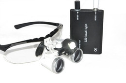 Wholesale Dental Surgical Medical Binocular Loupes X mm Optical Glass Loupe LED Head Light Lamp Durable Protective Case
