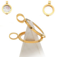 Lockets Unisex Wedding 20PC Hollow Floating Living Memory Locket Pendant Gold Plated (WITHOUT GLASS.)