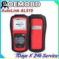 Wholesale Autel AutoLink AL car code reader OBD2 scanner AL519 AL One Click I M Readiness Key