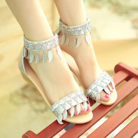 Women Spool Heel PU 2014 New design Summer Women's Sandals Elegant Sweets Fashion wedge sandals Glitter Soft Leather Blue Red EUR Size 34-39 QL4005