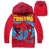 Baby Boys Hoodies Children Spider- man Jacket with hat childr...