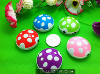 Wholesale DHL free ship Fashion mushroom MP3 player Kids MP3 players with a USB cable and headset TF SD micro memory card slot GB Earphone box