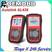 Wholesale Autel Autolink AL Auto MultiMeter AVOMeter Scanner Color Screen OBDII Diagnostic Engine Code Scanner al439 high quality