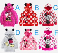 Baby Girls Hoodies Children Cartoon Mouse T- shirts with hat ...