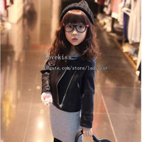 Wholesale Kids Leather Jackets Child Clothing Fashion Girls Coats Children Jacket Kids Coat Girls Jackets Children Outwear Girl Clothes Kids Jacket