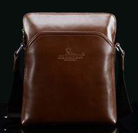 Wholesale Factory fashion explosion models Kangaroo counter genuine leather man bag diagonal shoulder bag men s business