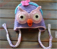 Unisex beanie baby owl hoot - New Arrival Custom Crochet Toddler Girl Lavender Hootabelle Hat Baby Girl Owl Hootabelle Owl Beanie Hat Boy Hoot Blue Hat With Orange Beak