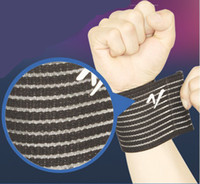 Wrist Support Black Adult Wholesale Best Wrist Brace Straps Elastic Support Pad Weight Lifting Gym Sports Exercise Arthritis Basketball Tennis Cheap