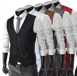 Wholesale Men s new men vests High quality Korean slim fit Business casual Metal chain vest men s outwear MJC153