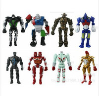 Wholesale 8 styles set LED REAL STEEL ATOM ZEUS NOISY BOY MIDAS TWIN CITIES ROBOT SET MULTI ACTION FIGURE SETS Figure Toys