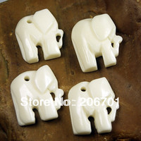Wholesale White Elephant Shape Carved Yak Bone mm loose Beads Bracelet Pendant Lo m