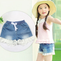 Shorts Girl Summer Korean boy pants children cotton lace shorts denim shorts for girls new summer children's clothing wholesale trade of the original single-