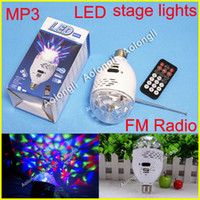 Wholesale Mini Speaker LED Stage Light Digital MP3 Speaker with FM Radio Support USB TF card Plug Music Play for home indoor lamp Dimmable Light