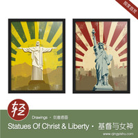 More Panel Digital printing Fashion Light Art Drawings Statues Jesus Christ Liberty Set Modern Vintage Retro Picture Pop A4 Poster Prints Wall Decor Canvas Custom DIY Paintings