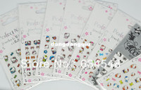 Wholesale Styles Kitty style Hello Pattern Nail Designs Adhesive D Nail Stickers Decals Nail Art Decoration