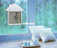 Digital Bath Thermometers Plastic Wholesale-2013 hot selling item LCD Digital Thermometer Indoor & Outdoor Household Weather station Products for wholesale and retail