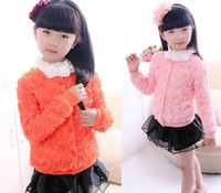 Wholesale 218 Girl Spring And Autumn Roses Princess Coat Girl Jacket