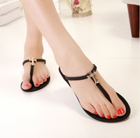 Wholesale Popular Colors Plastic Flip flops Metal Cross Decoration Women s Fashion Dress Shoe Lady s Sandals Slipper
