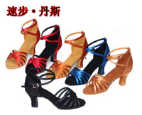 ballroom dance shoes - Genuine Leather Cowhide Women s Latin Dance Shoes Middle Heel Dance Shoes Ballroom Dancing Shoes