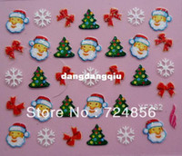 Wholesale packs Designs Glitter Christmas Nail Art sticker D French Nail Art Sticker Decal Nail Art Decoration
