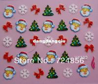 Wholesale packs Designs Glitter Christmas Nail Art sticker D French Nail Art Sticker Decal Nail Art Decoration