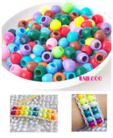 Wholesale 250pcs Loom Bands Kitting Loose Beads Colorful Plastic Beads For Diy Loom Bands Accessories dandys