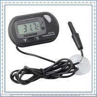 Wholesale pc Digital Fish Pool Thermometer Waterproof Aquarium Probe Fish Tank LCD Thermometer HOM T02