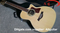 Wholesale Chinese Acoustic Guitar natural B bang or fishman pickups natural AAA solid spruce top Acoustic Electric Guitar In Stock