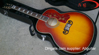 Wholesale Guitar Peter Townshend Acoustic Electric Guitar Sunburst Back Side Tiger