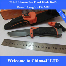Wholesale 2014 new Bear Tactical Survival Ultimate Pro Fixed Blade Knife fine edge knife outdoor camping rescue tool Full Length cm inches