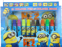 Wholesale Hot Sales Thief Daddy color Cartoon Watercolor Painting Pen Set Despicable Me2 Watercolor pen Colouring Pen watercolor pen fills the