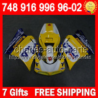 7gifts For DUCATI yellow white 748 916 996 998 96- 02 5Q33 74...