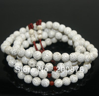Beaded Necklaces Unisex Casual/Sporty BRO835 Buddhist 108 white Starmoon Bodhi seeds Rosary,8mm,wooden round Prayer beads mala,best offer