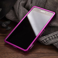 For Sony Ericsson   New 2 in 1 combo Z 2 colorful Aluminum Metal Push-pull Bumper Case for Sony Xperia Z2 L50 cell phone bumpers