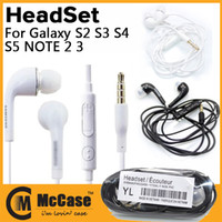 Wholesale High Quality In Ear Stereo Earphone Headphone Headset With Mic Remote Volume Control For Samsung Galaxy S3 S4 S5 note White Black