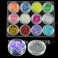 Wholesale New Fashion Colors Hexagon Nail Art Glitter Nail Art Powder Decoration