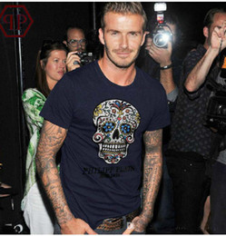 Wholesale 2014 New fashion Men s T shirt PHILIPP PLEIN Cultivate one s morality Round collar short sleeves T shirt