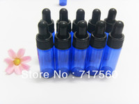 Wholesale 30pcs ML COBALT BLUE GLASS EYE DROPPER BOTTLES VIALS FOR ESSENTIAL OILS STORAGE BOTTLES