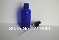 Wholesale 6Pcs ml Cobalt Blue Glass Dropper Bottles Empty New For Essential Oil Cosmetic serum Packing Sampling Storage containers