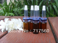 lot of perfume - of ml Amber Glass Bottles Vials W Trumpet Dripper For Essential oil Perfume Cosmetics Serum Packing Dispay