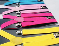 Wholesale Mens Adjustable Clip on Unisex Suspenders Braces FQ0607