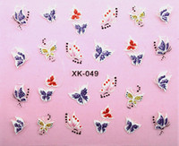 Wholesale sticker d nail art decoration for new summer women decals XK049 independent package for resale