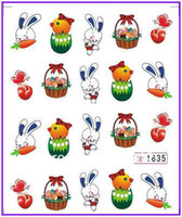 Wholesale Nail Art Water Transfers Stickers Nail Decals Sticker Water Decal Easter Day Easter Bunny Easter Egg