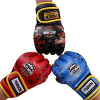 Wholesale High level Quality Half Finger Boxing Gloves Sanda Training Fighting Sandbag Gloves Dragon Cool Pattern