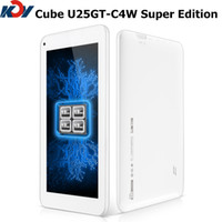Wholesale 7 inch GPSTablet PC Original Brand Cube U25GT Super Edition MTK8127 Quad core px IPS Android tablets U25GTC4W Bluetooth HDMI