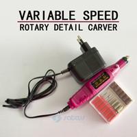 Wholesale 1Set Pen Shape Electric Nail Drill Machine Art Salon Manicure File Polish Tool Bits Pedicure RPM V V EU Plug