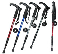 Trekking Poles Rubber Rubber Tip Folding Retractable Trekking Pole Anti-Slip Climbing Stick Adjustable Walking Cane for Hiking,Skiing ,Outdoor sports 4 colors