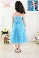 Wholesale New very beautiful Girl Dresses size T Frozen Elsa Anna kid s dress girl s dress kid s Princess dress